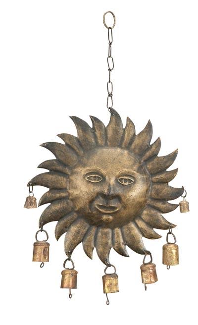 Metal Sun Face Chime Globe Imports