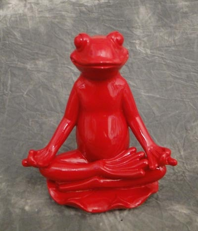 Red Lotus Yoga Frog - Globe Imports