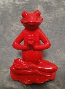 Red Prayer Yoga Frog