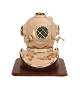 Diving Helmet on Wood Base