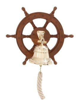 Ship's Wheel With Brass Bell