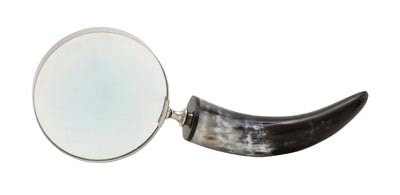 Horn Handled Magnifying Glass Globe Imports