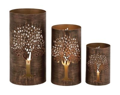 Laser Cut Metal Signs >> Set of 3 Hurricane Candle Holders - Globe Imports
