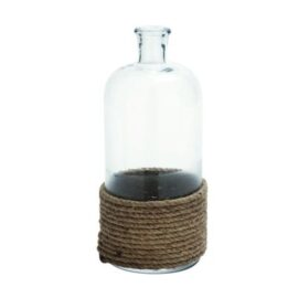 Glass Bottle Trimmed with Rope
