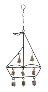Iron Sailboat Wind Chime