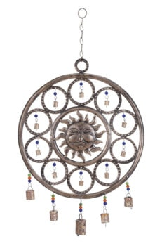 Round Sun Chime With Beads