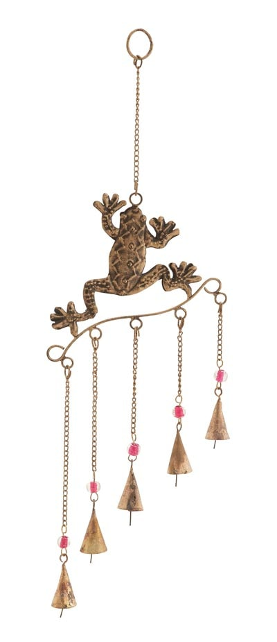 Frog Chime With Five Bells Globe Imports