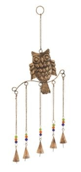 Owl Chime with Five Bells