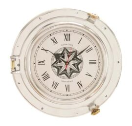 Porthole Clock Wall Decor