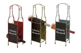 Assorted Wine Rack with Chalkboard