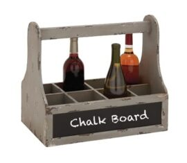 Rustic Wine Tote With Chalkboard