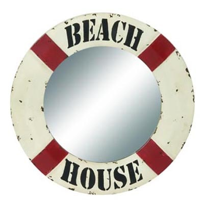 Life Preserver Beach House Mirror