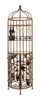 Metal and Glass Wine Cabinet