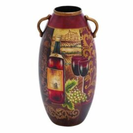 Decorative Painted Vineyard Urn