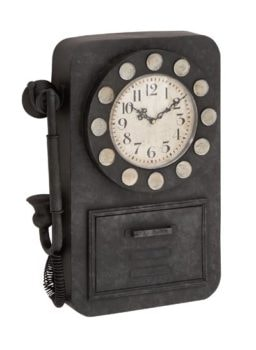 Pay Telephone Style Wall Clock