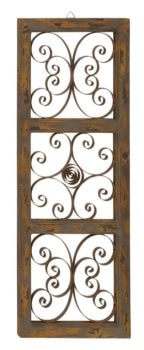 Decorative Wood and Metal Wall Panel