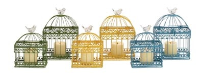 Assorted Set of 2 Cage CANDLEholders