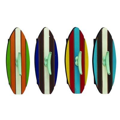Set of 4 Surfboard Coat Hooks