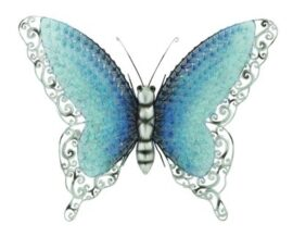Iridescent Metal Wall Butterfly