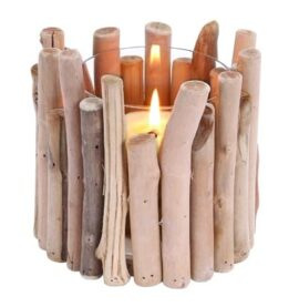 Driftwood Style Candleholder