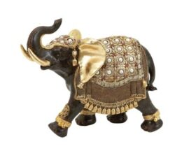 Decorated Elephant Figurine