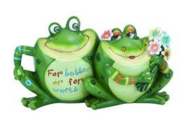 Frog Couple Garden Figurine
