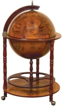 Old World Globe Bar
