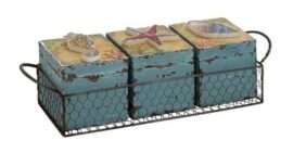 Set of 3 Beach Boxes in Basket