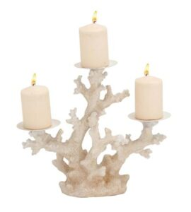 Triple Coral Candleholder