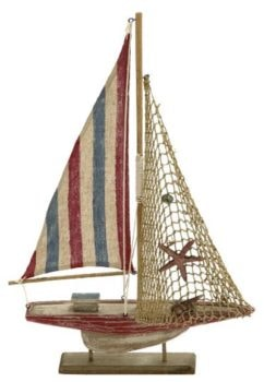 Rustic Decorative Wooden Sailboat