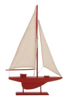 Decorative Model Red Sailboat