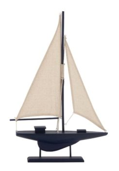 Decorative Blue Sailboat Model