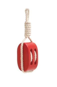Red Wood Pulley with Rope