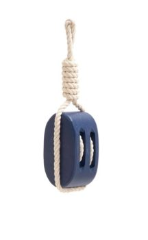 Blue Wood Pulley with Rope