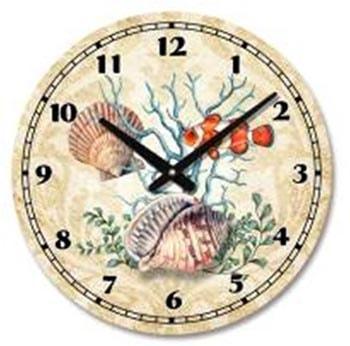 Seashell and fish wall clock globe imports for Seashell clock
