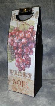 Wine Carry Case with Grape Design