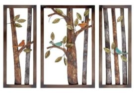 Set of 3 Decorative Metal Art Panels