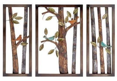 Set of 3 Decorative Metal Art Panels