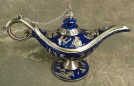 Blue Colored Aladdin's Lamp