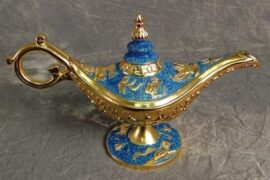 Aqua Colored Aladdin's Lamp