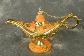 Orange Colored Aladdin's Lamp