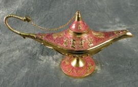 Pink Colored Aladdin's Lamp