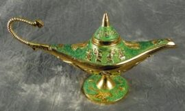 Green Colored Aladdin's Lamp
