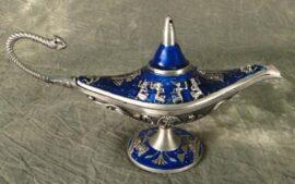 Blue Colored Aladdin's Lamp