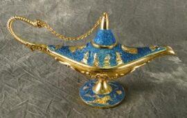 Aqua Colored Aladdin's Lamp