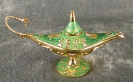Green Colored Aladdin's Lamp