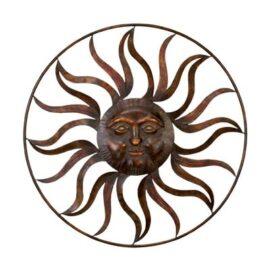 Metal Wall Sun Ring