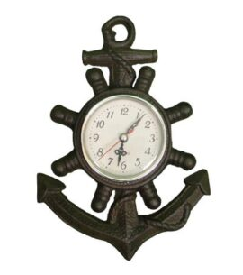 Antique Nautical Anchor Clock