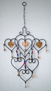 Iron Hearts Wind Chime