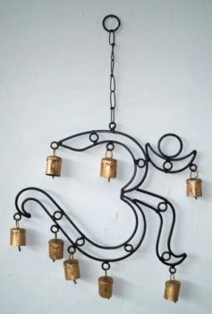 Iron Om Shaped Wind Chime
